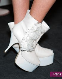 Acne's Retro White Booties