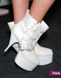 Acne's Retro White Booties