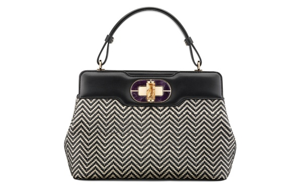 Bulgari Leather and tweed I. Rossellini bag, price on application.