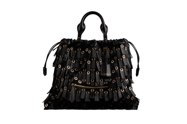 Burberry Prorsum Ponyskin, leather fringing and metal The Big Crush bag, €2195.