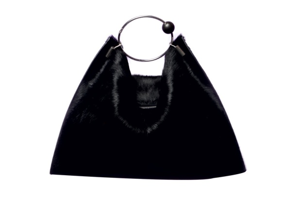 Céline Black mink bag, price on application.