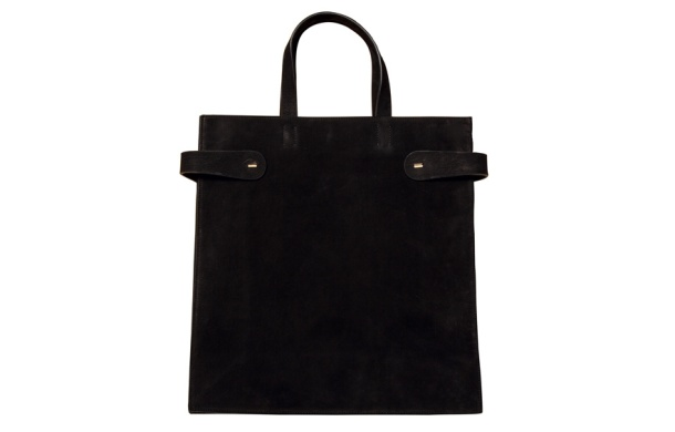 Calvin Klein Collection Black velour calfskin bag, price on application.
