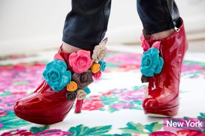 Delpozo's Rosie-Red Ankle Boots
