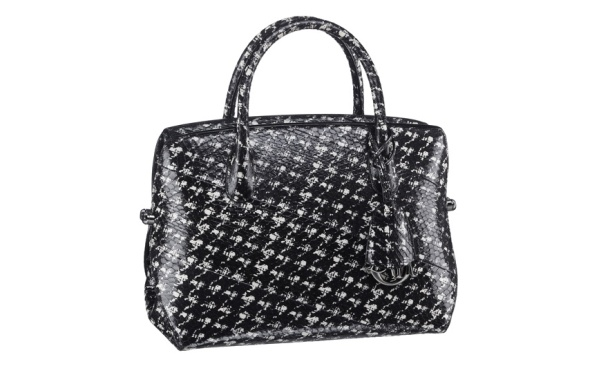 Christian Dior Houndstooth print snakeskin Dior Bar bag, €4800.