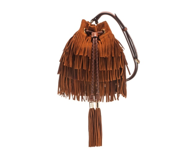 Emilio Pucci Fringed velour calfskin bag, price on application.