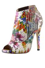 Jimmy Choo Bolt Painted Python Peep-Toe Booties