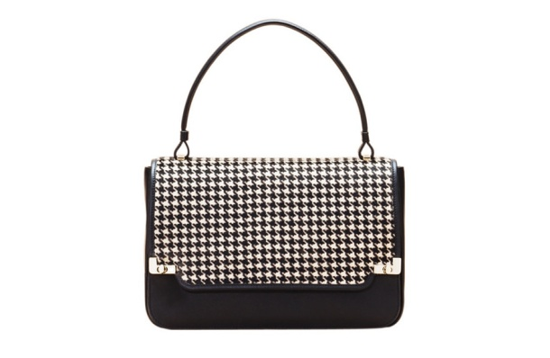 Lancel Houndstooth print ponyskin and calfskin leather XL Première Dame bag, €1750.