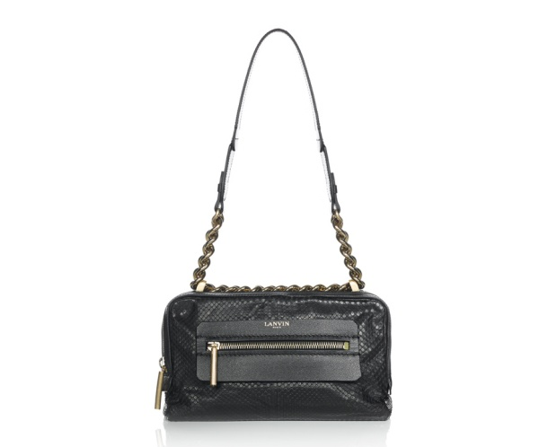 Lanvin Dappled matt python skin Padam bag, €1850.