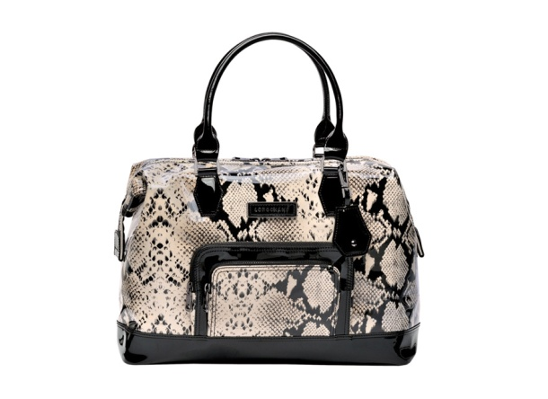 Longchamp Python print patent leather Légende bag, €350.