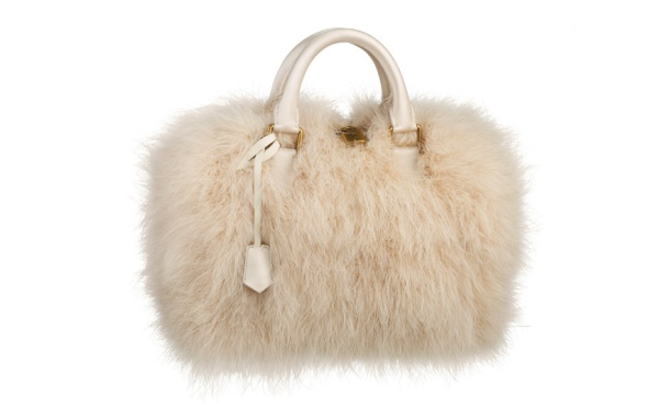 Louis Vuitton Ivory marabout feather Speedy bag, €5100.