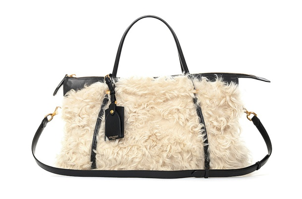Nina Ricci Shearling and black calfskin Ballet bag, €2950.