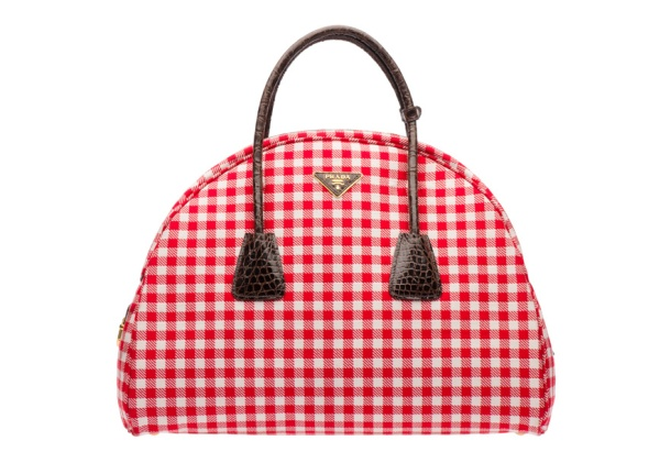 Prada Gingham print and leather bag, €2700.