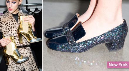 Thakoon's Gold Ankle Boots and Pilgrim Pumps