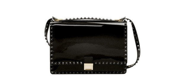 Valentino Studded patent leather bag, price on application.