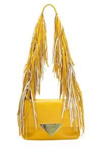 Sara Battaglia Colorblock Fringe Shoulder Bag, $1,050; intermixonline.com