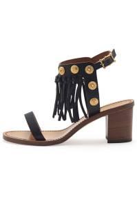 Valentino Leather Fringe Sandal, $1,095; neimanmarcus.com